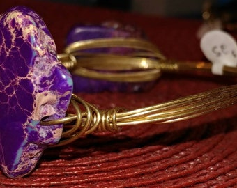 Natural purple stone bangle