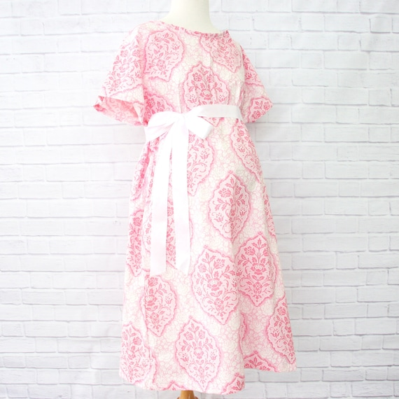 32fe4a377cc Pink and White Hospital Gown Labor   Delivery Gown