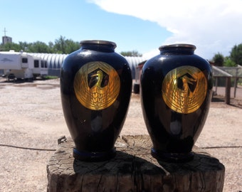 Vintage Pair of Closinine Vases