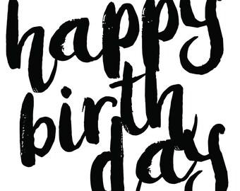 Qty 4 - Happy Birthday Custom Wine Labels - Birthday Gift, Wine Gift, Custom Wine Label, Birthday Girl Wine Glass