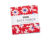 Back Porch Charm Pack Assorted Red White Blue 5 quot x 5 quot Floral Squares Designed by Me and My Sister Moda 22390PP
