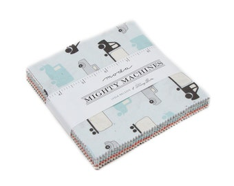 """Mighty Machines Charm pack by Moda Pre-cut 5"""" squares"""