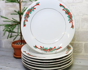 christmas china dinnerware plates pointsetta and ribbons 105 inch dinner plates holiday dishes set of 3 plates