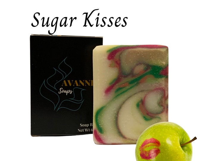 Sugar Kisses Pear, Apple & Strawberry Scented Soap Bar - For Her