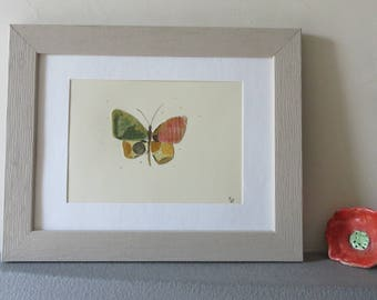 Butterfly abstract watercolor nature