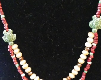 Turtle tiered necklace