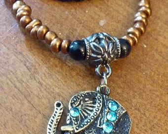 Tiered elephant necklace