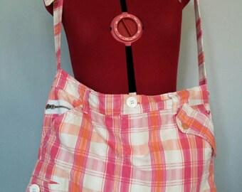 Pink Plaid shoulder bag