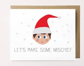 cute christmas card boyfriend christmas card girlfriend christmas card funny christmas card fun holiday card best friend christmas card - Christmas Card For Girlfriend