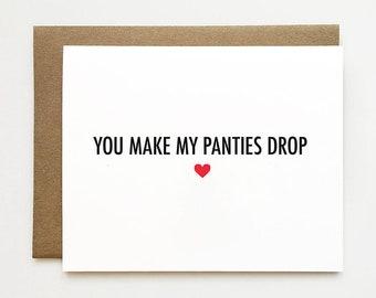 Naughty Valentine S Day Card For Boyfriend Naughty Etsy