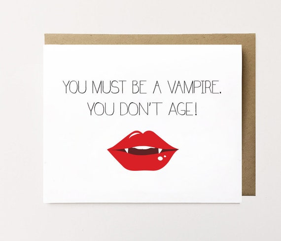 Funny Birthday Card Compliment Vampire