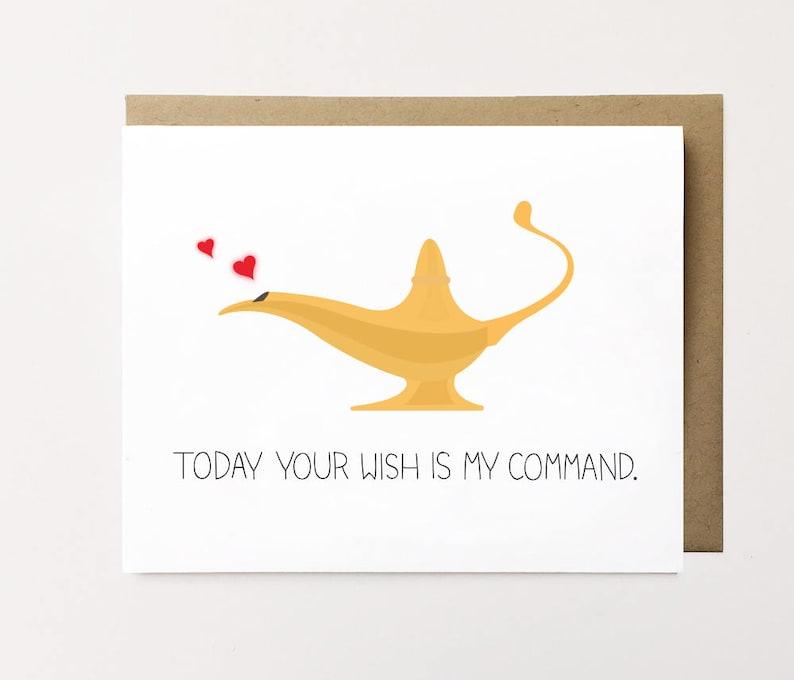 Birthday card for boyfriend, Birthday card for girlfriend, Funny birthday  card, Naughty birthday card, Genie card Naughty birthday wish card