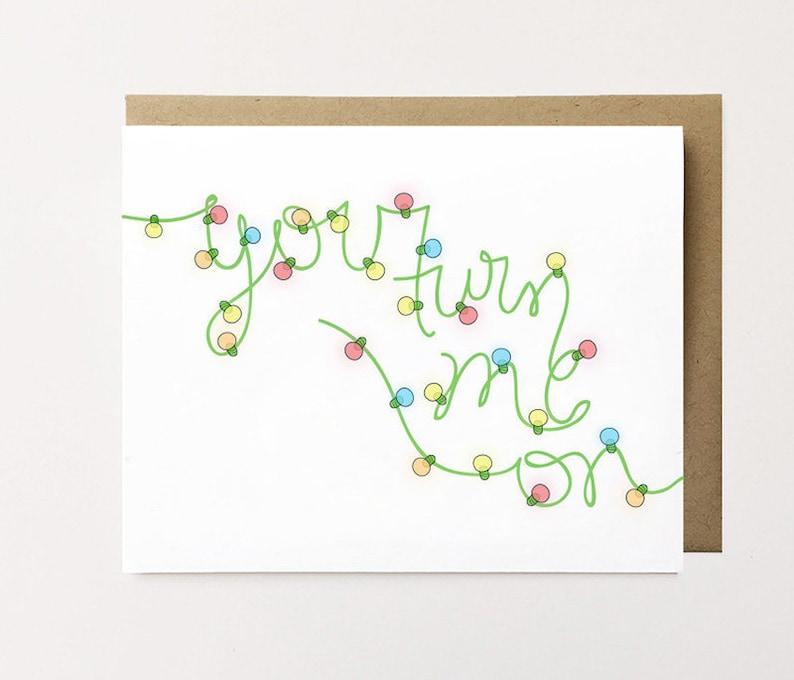Auguri Di Natale Fidanzato.Cartolina Di Natale Sexy Giocherellona Christmas Card Per Etsy