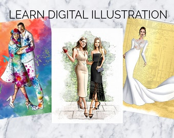 One-on-One Digital Fashion Illustration Online Lessons, 5 Week Course and Mentorship (Limited to 3 students per month)