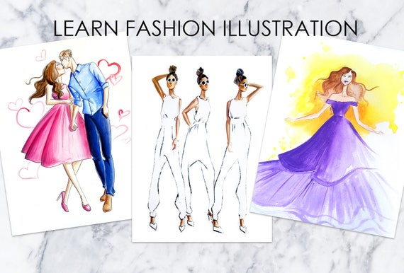 One On One Fashion Illustration Online Lessons For Beginners Etsy