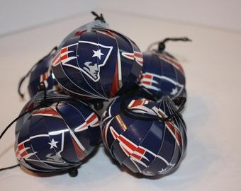 New England Patriots NFL Ornaments : Single or Set of 5