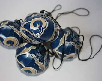 Los Angeles Rams NFL Ornaments : Single or Set of 5
