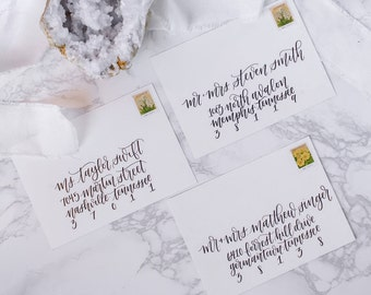 Hand Lettered Wedding Envelope Calligraphy | Wedding Invitation, RSVP
