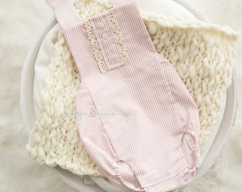 Vintage Inspired Romper - Fabric - Newborn, Sitter & 12-18 Month Sizes - Photography Prop