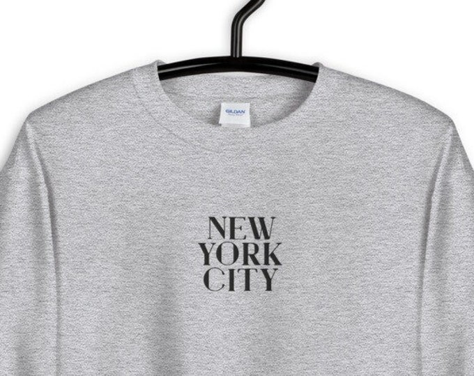 Embroidered Sweatshirt - New York City Merch NYC