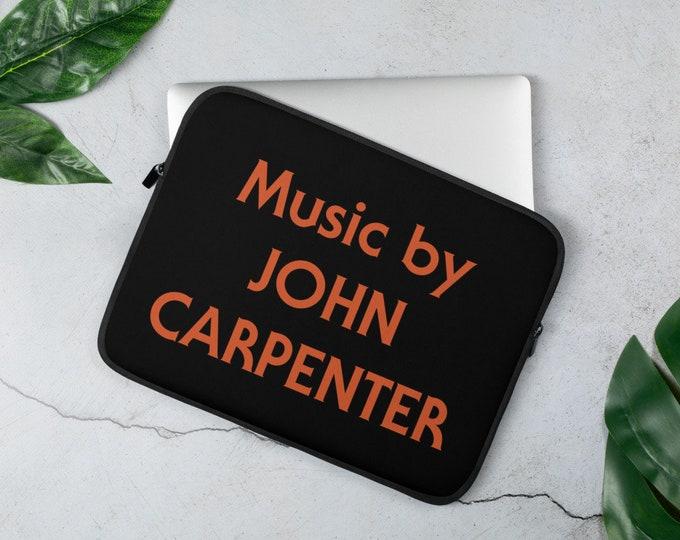 Laptop Sleeve - Music by John Carpenter Joe Bob Briggs The Last Drive In Halloween Horror Movie Merch Michael Meyers