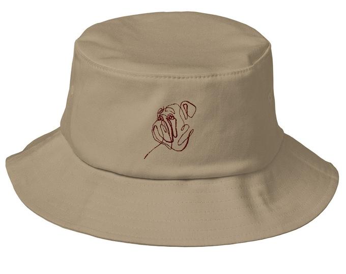 Old School Bucket Hat - Embroidered Mississippi State Bulldogs Hail State Starkville Starkvegas Fraternity Sorority Date Party Tailgate