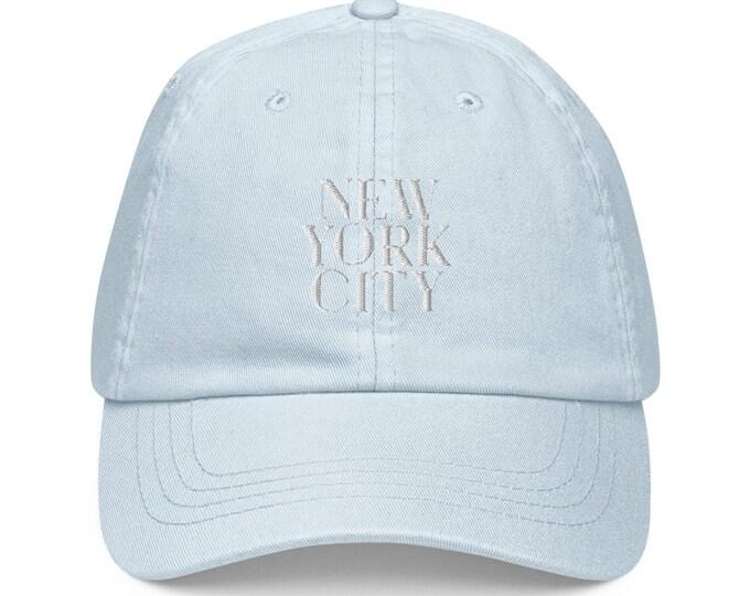 Pastel Baseball Hat - NYC New York City Buffalo New England Big Apple