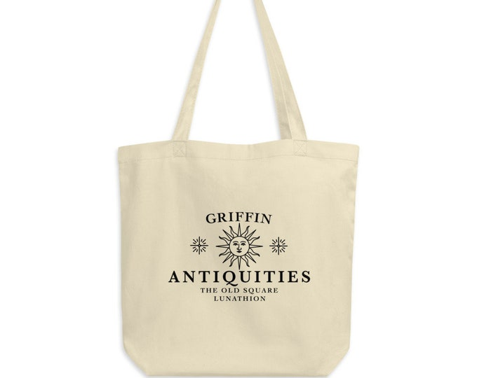 Eco Tote Bag - Griffin Antiquities Crescent City Sarah J Maas Bryce ACOTAR Pop Culture Young Adult Literature