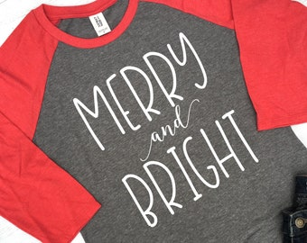 merry and bright christmas shirt women merry and bright shirt christmas shirts for teachers christmas holiday shirts for women rg178r