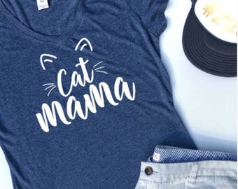 Cat Mama Shirt, Crazy Cat Lady, Funny Tshirt women, Cat Tshirt, Cute Cat Shirt, Kitten Shirt, Fur Mama, Animal Lover Gift, Fur Mom, HT107W