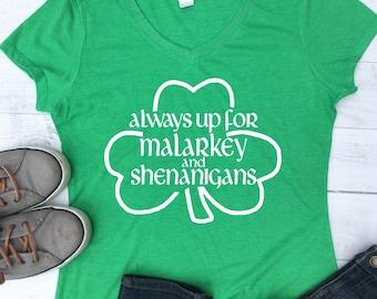 ff6ab67a7 Shenanigans St Patrick Day Women Tops, St Patricks Day Shirt Women, Womens  St Patricks Day V Neck Shirt, St Patricks Day Tee Shirts, HT129