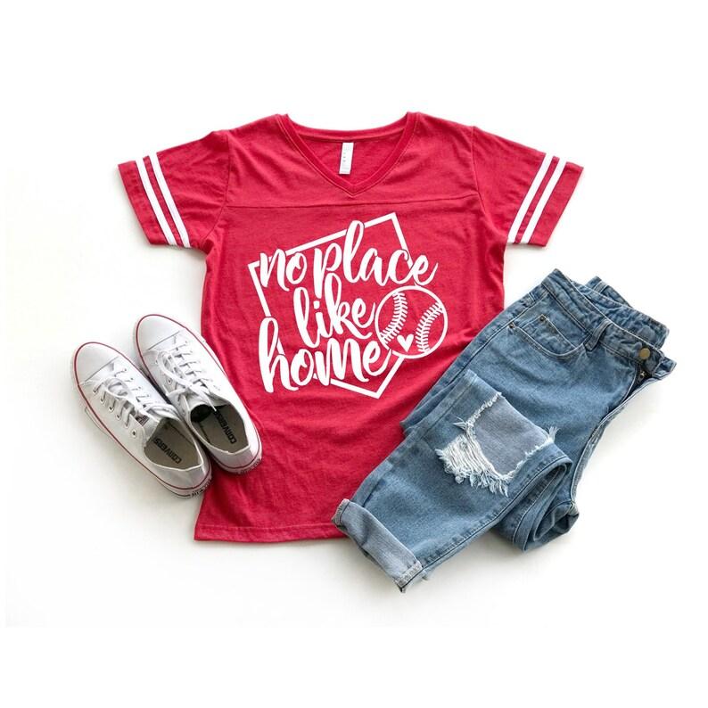 95b68db77 No Place Like Home Baseball Mom Shirts for Women Personalized | Etsy