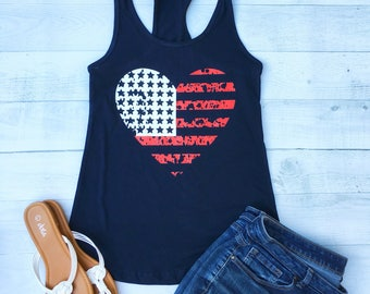 Fourth of July Shirt, Patriotic Shirts For Women, 4th of July Tank Top, American Flag Shirt, July 4th Shirt Women, Plus Size July 4th, ID50T