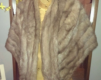 Vintage Silver Fur Stole