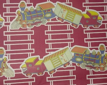 Vintage Train Wrapping paper/Shelf liner