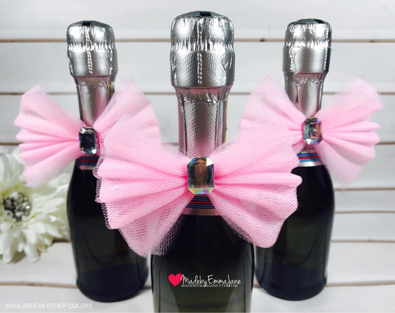 10 Champagne Bottle BowsBridal Shower FavorsBaby Shower | Etsy