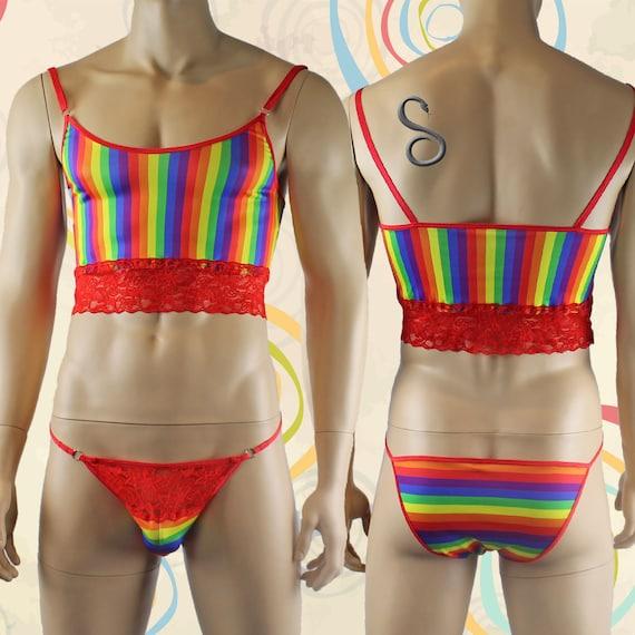 Gay Pride arc-en-ciel LGBT Rainbow unisexe Top Camisole et slips