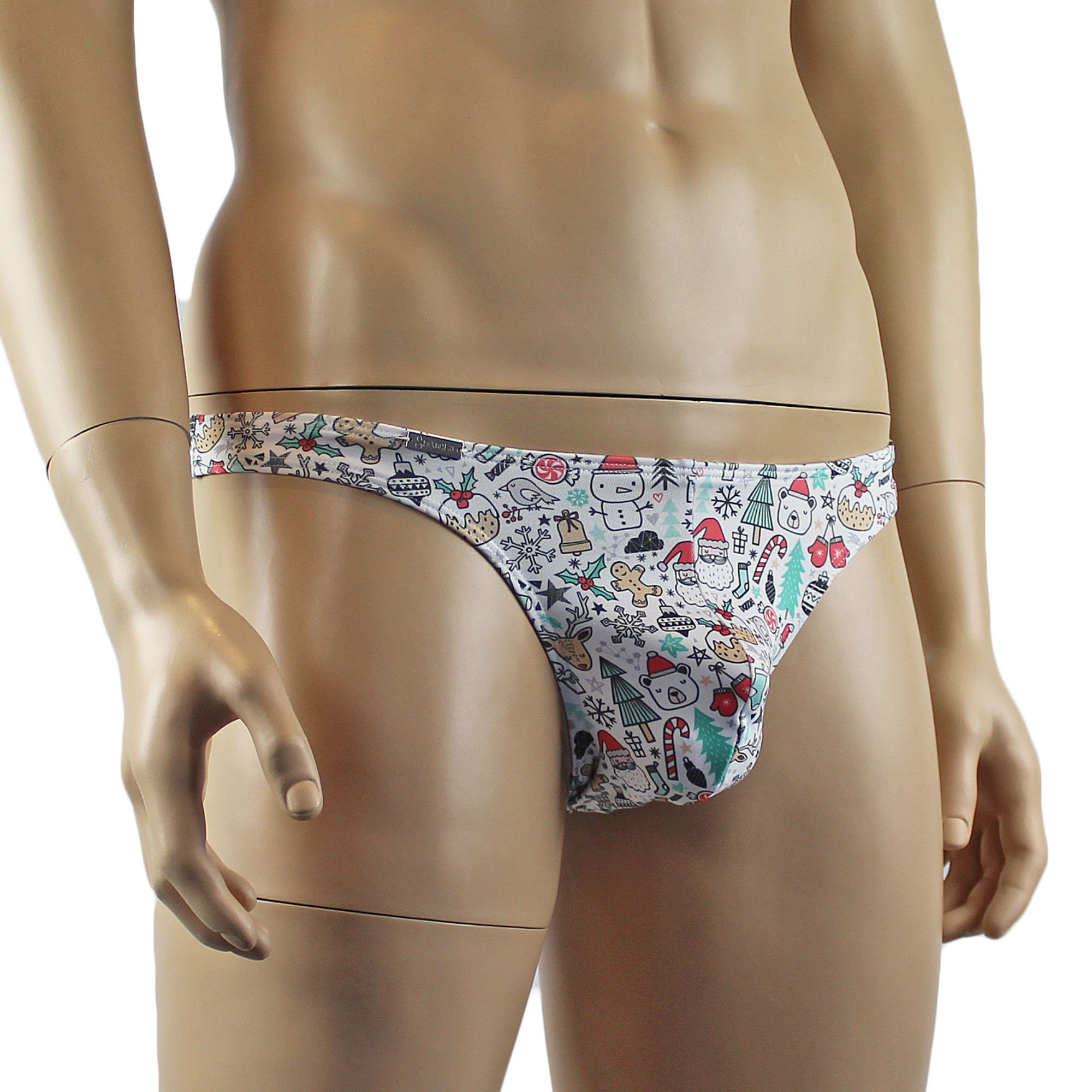 His and Hers Christmas Holiday Gift Wrap G string Thong ...