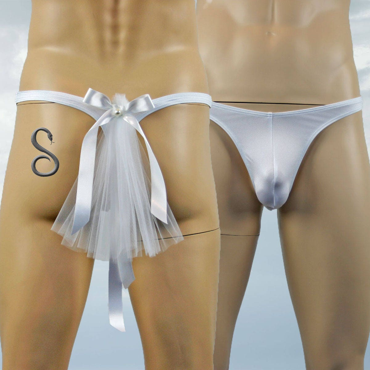 7b22e5bdd Mens Bridal Wedding G string Thong Underwear Lingerie with Veil. gallery  photo ...