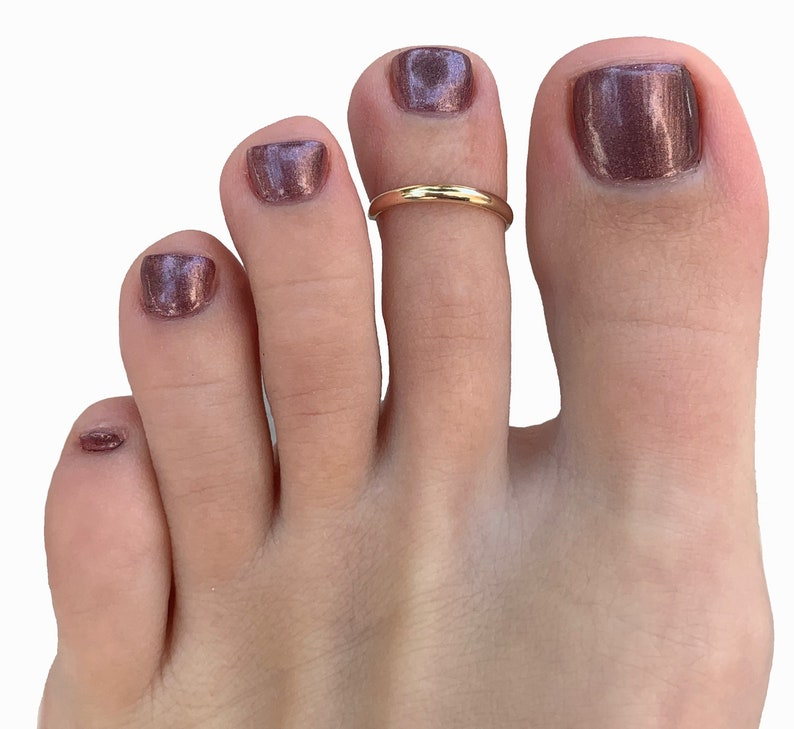1mm Skinny Toe Ring / 925 Sterling Silver or 14K Gold Fill / image 0