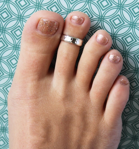 5mm Solid 925 Sterling Silver Foot Print Toe Ring