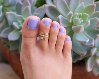 Pipeline Toe Ring / Spiral / Sterling Silver or Gold Fill / Semi-Adjustable