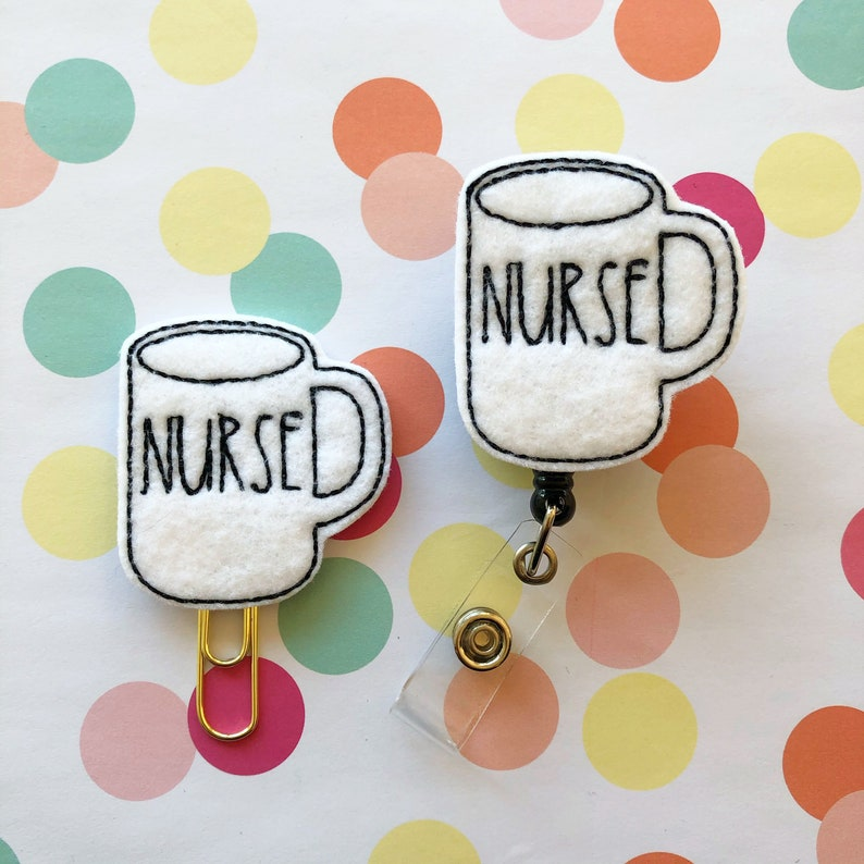 Nurse Name Badge Badge Reel Retractable Reel ID Card Holder Medical Gift Nurse Mug Planner Clips
