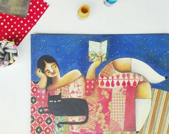 La Noia, An Original Mixed Media Painting by ChiarArtIllustration