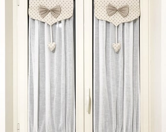 Country chic Style glass curtains