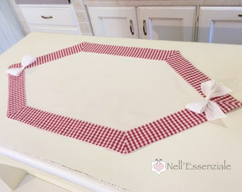 Rhombus centerpiece, table runner with customizable tips for country kitchen