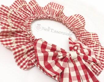 Ghirlanda country di stoffa coordinata ai tessuti della cucina