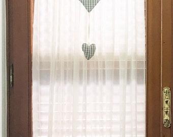 Shabby style glass curtain