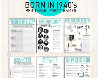70th Birthday Games Party Ideas Born In 1941 75th