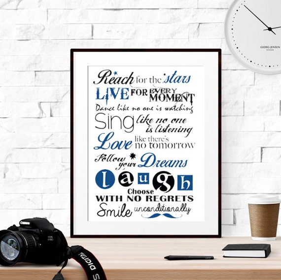 Printable Gift For Son Navy Quote Art Navy Printable Gift Dance